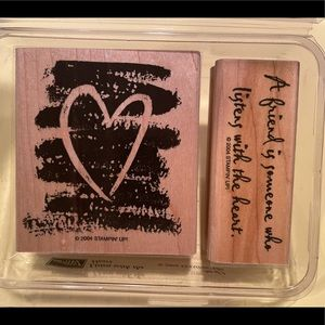 """Stampin' Up! """"Listen with the Heart"""" ❤️"""